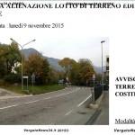 AVVISO D'ASTA ALIENAZIONE LOTTO DI TERRENO EDIFICABILE IN VERGATO – VIA DELLA COSTITUZIONE - - 0001 copia